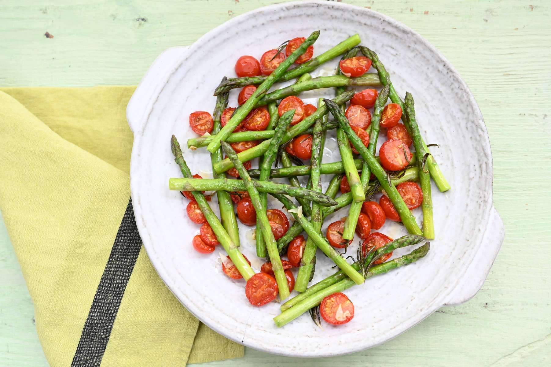Asparagus with Tomato Confit