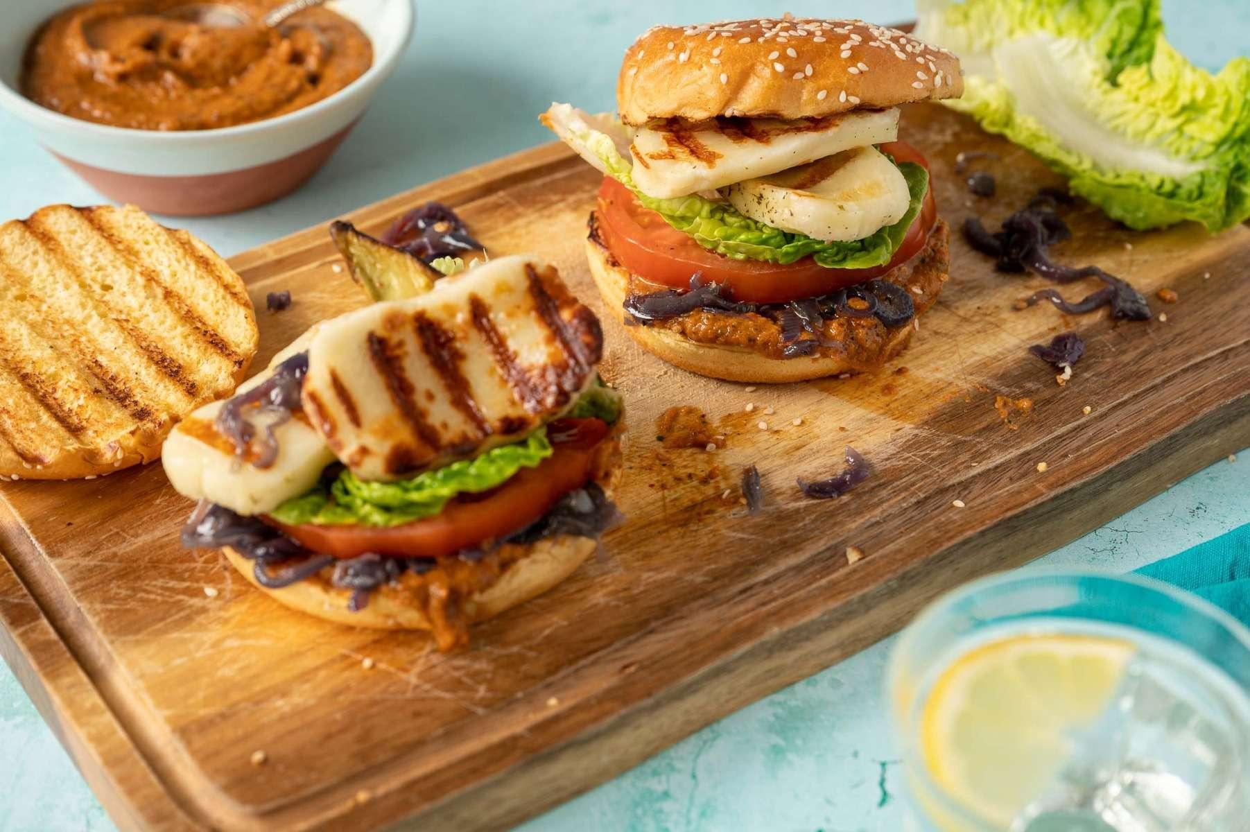 Charred Avocado & Halloumi Burger