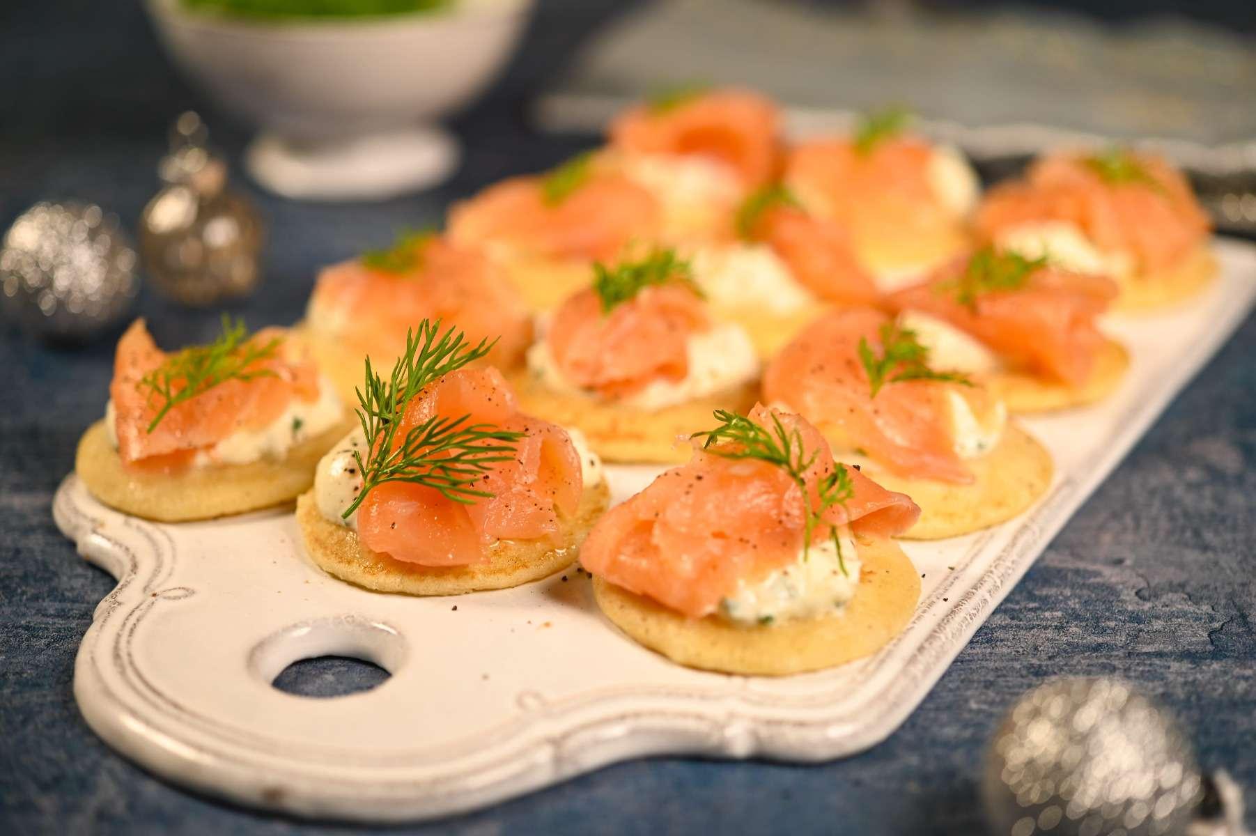 Smoked Salmon & Horseradish Blinis