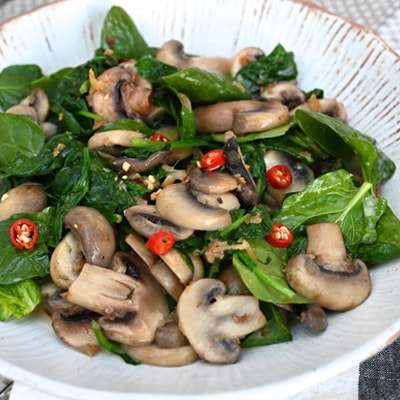 Coconut Spinach and Mushroom